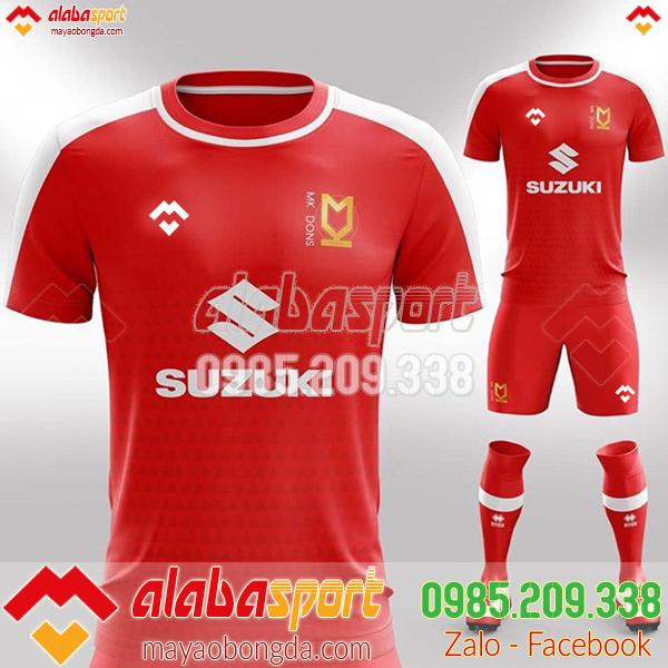 Áo bóng đá đặt may 2019 màu đỏ