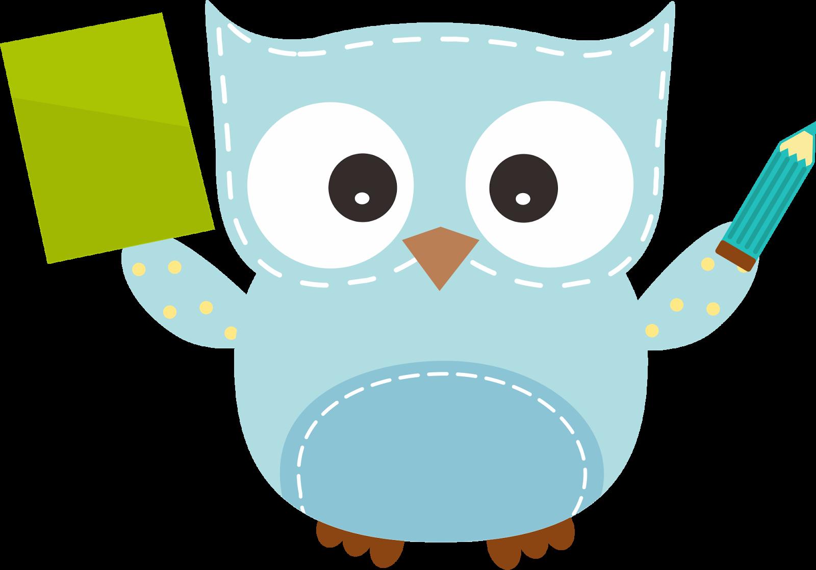 cute owl clip art - HD1600×1119