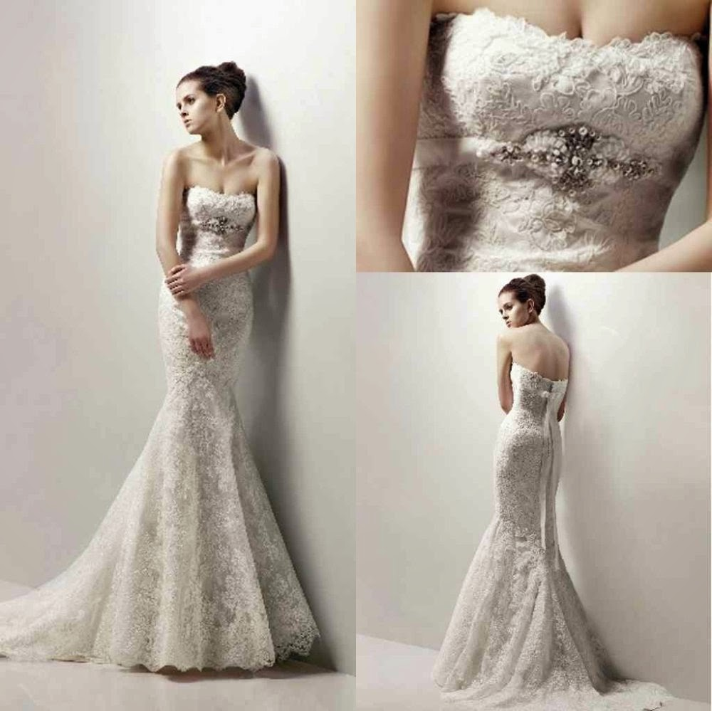 real made one shoulder mermaid lace wedding dresses mermaid lace wedding dress Real One shoulder Mermaid Lace Wedding Dresses with Made