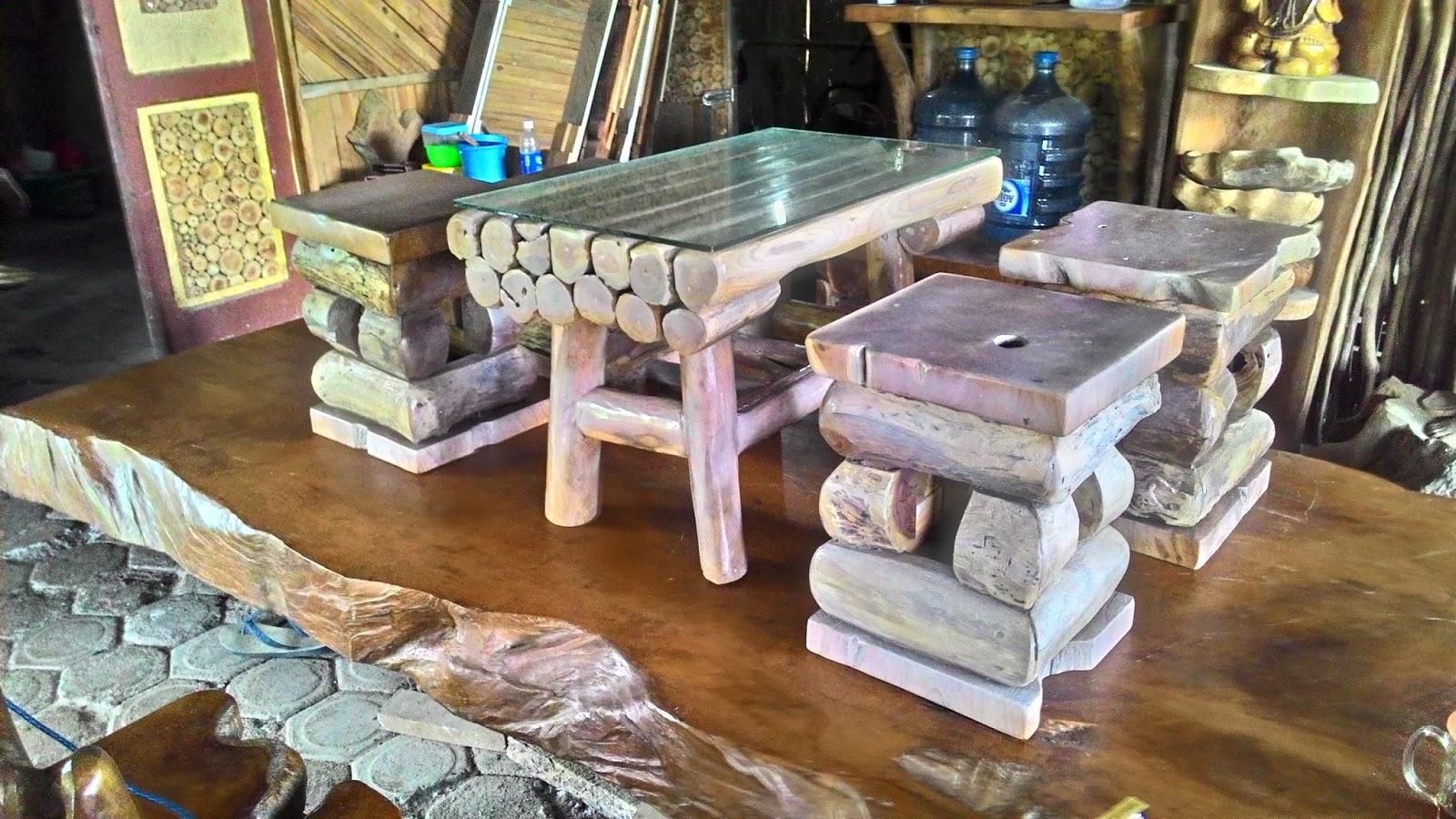 50 Model Meja Kursi dari Limbah Kayu Jati Terbaru 2018