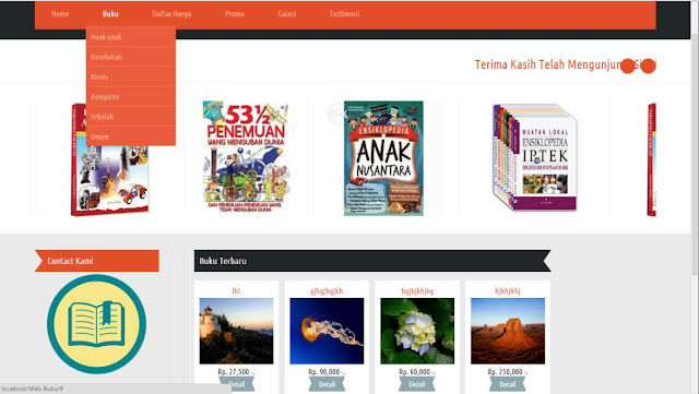 Download Source Code Web Sistem Informasi Penjualan Toko Buku