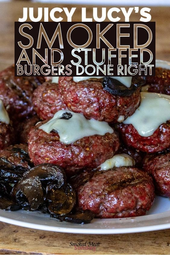 Blue Cheese Stuffed Burgers AKA Gourmet Juicy Lucy