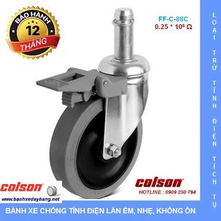 Báo giá bán bánh xe đẩy cao su chống tĩnh điện Colson Mỹ www.banhxedayhang.net