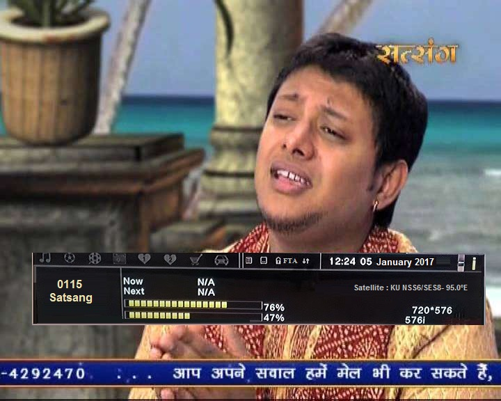 Satsang TV Temp  FTA from SES8 Satellite, dd direct dth