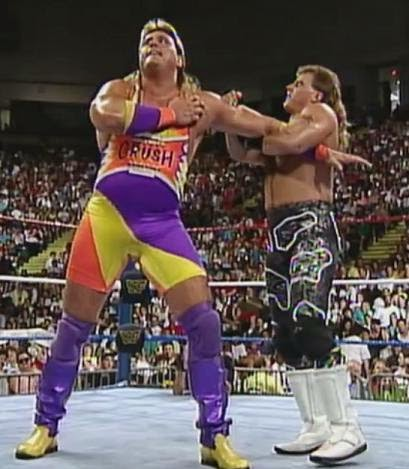 WWF / WWE King of the Ring 1993: Shawn Michaels successfully defended the Intercontinental Championship against Crush
