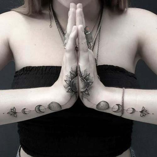 güneş dövmesi el hand sun tattoo