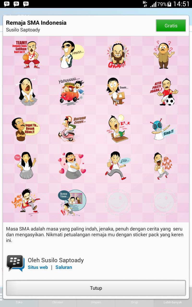 BBM Android Free Sticker APK ~ GETPCGAMESET