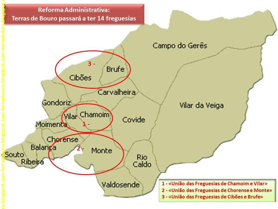 vilar da veiga mapa Terras de Bouro: Aprovada redução de freguesias de 17 para 14 em  vilar da veiga mapa
