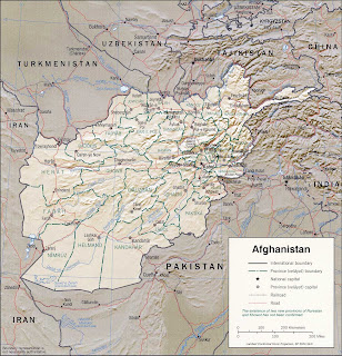 Picture of Afghanistan map in 2001