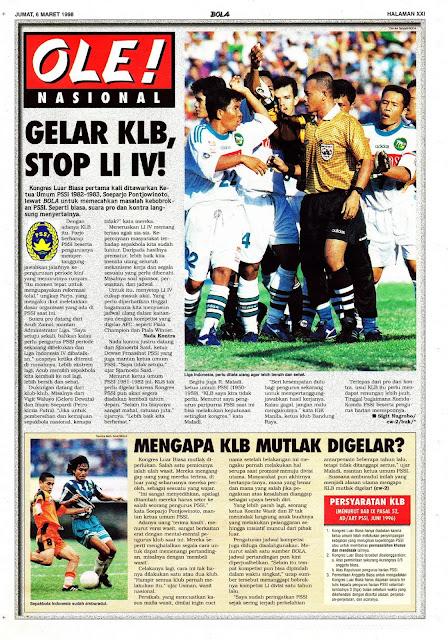 SEPAKBOLA NASIONAL GELAR KLB, STOP LIGA INDONESIA IV