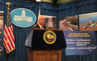 Gov. Jerry Brown Proposes Speeding Up Water And Flood-Protection Projects After The Winter's Big Storms
