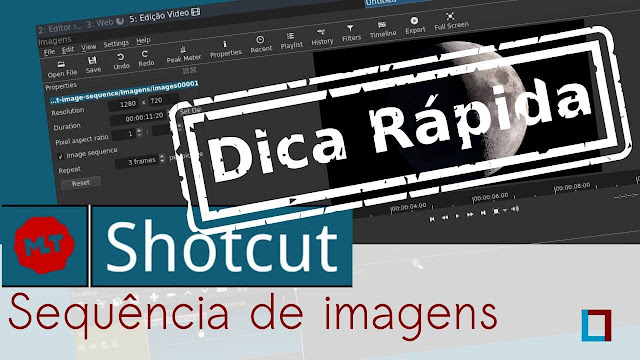 Vídeo: Aprenda animar uma sequência de imagens no Shotcut