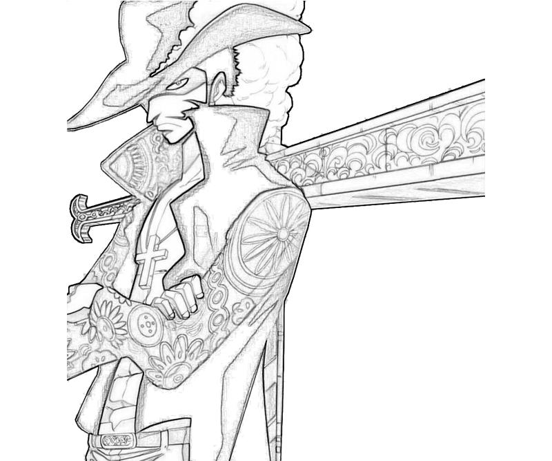 one piece dracule mihawk character  how coloring