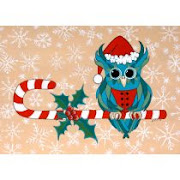 December inspiration is by Lisa Frances Judd  with Candy Cane Owl_