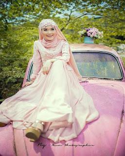 gaun pengantin muslimah murah