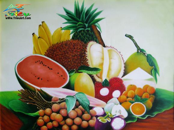 tranh trái cây