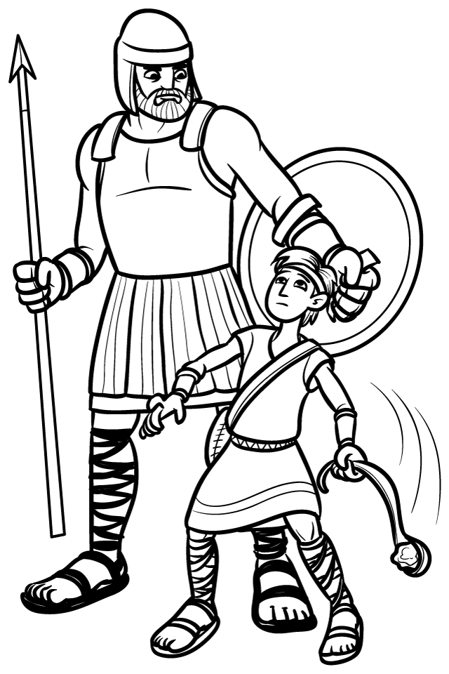 bible coloring pages david and goliath | Pinning with Purpose: Old Testament Quiet Book