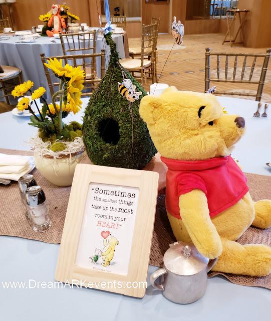Winnie The Pooh party decoration centerpiece ideas