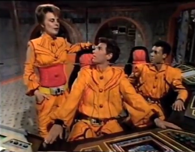 Paul Greenwood, Tracey Childs and Ben Ellison in Captain Zep - Space Detective