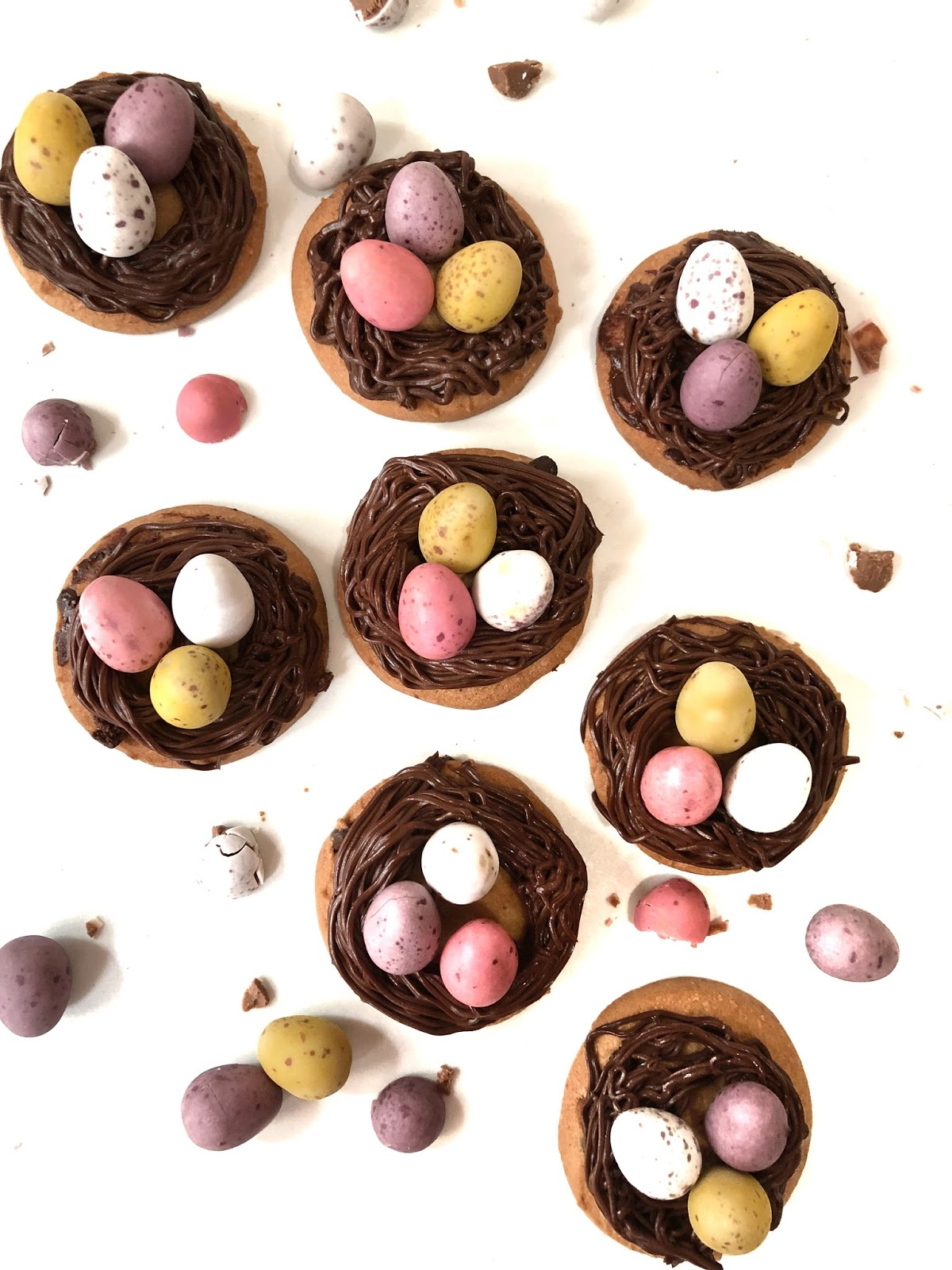 Chocolate Nest cookies for Easter Day