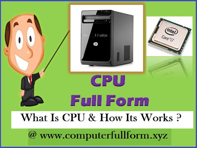 cpu full form