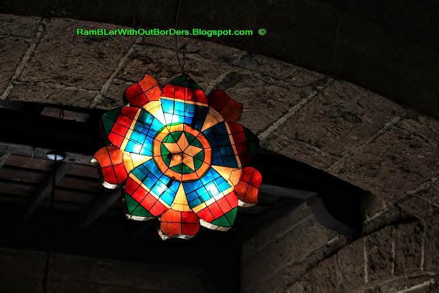 Parol lantern, Casa Manila, Intramuros, Manila, Philippines