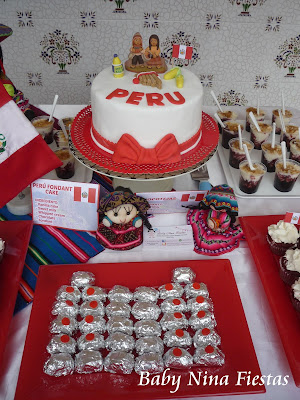 Perú sweet table