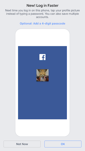 Facebook 4 digit pin