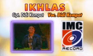 Lirik Lagu Ikhlas - Didi Kempot