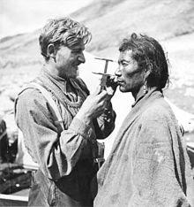 Beger midió los cráneos de 376 tibetanos
