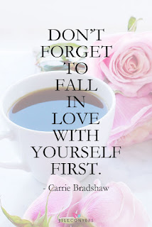 carrie bradshaw, quotes, love yourself, february, challenge, strong mom tribe, calendar