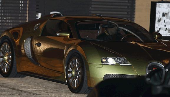 Jamie Sportscar3 - Jamie Foxx takes his 7yr old out on a ride in his $2million Bugatti