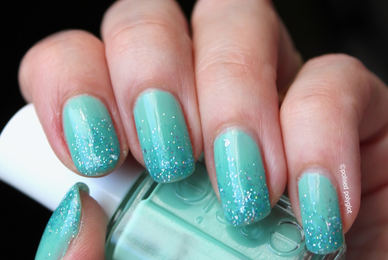 For This Manicure I First Painted Three Thin Coats Of Essie Turquoise And Caicos Which According To The Definition Adopted Is A True
