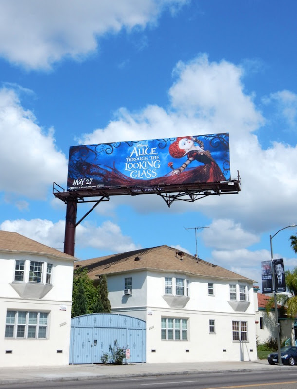 Alice through the Looking Glass film billboard