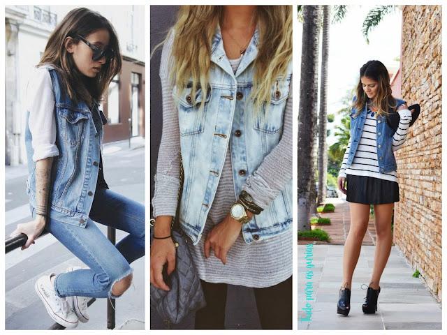 Tendência: Coletes; colete jeans