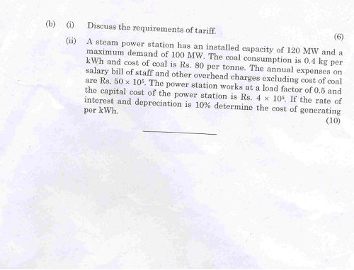 ME2403 Power Plant Engineering May June 2013 Question
