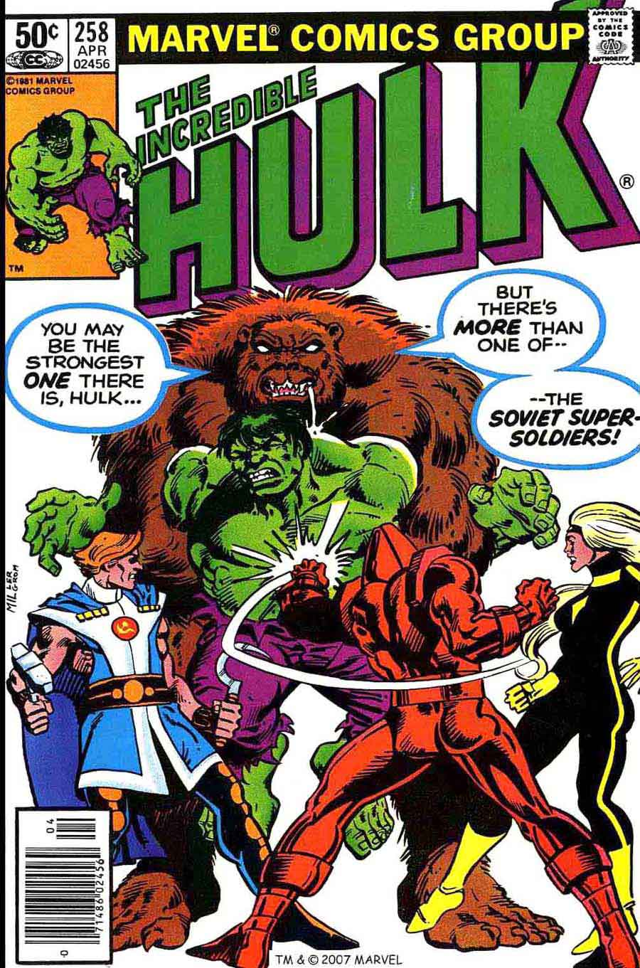 Incredible Hulk v2 #258 marvel comic book cover art by Frank Miller