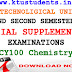 Question Paper for Engineering Chemistry (CY100)-Special Supplementary Examination Aug/Spt 2016