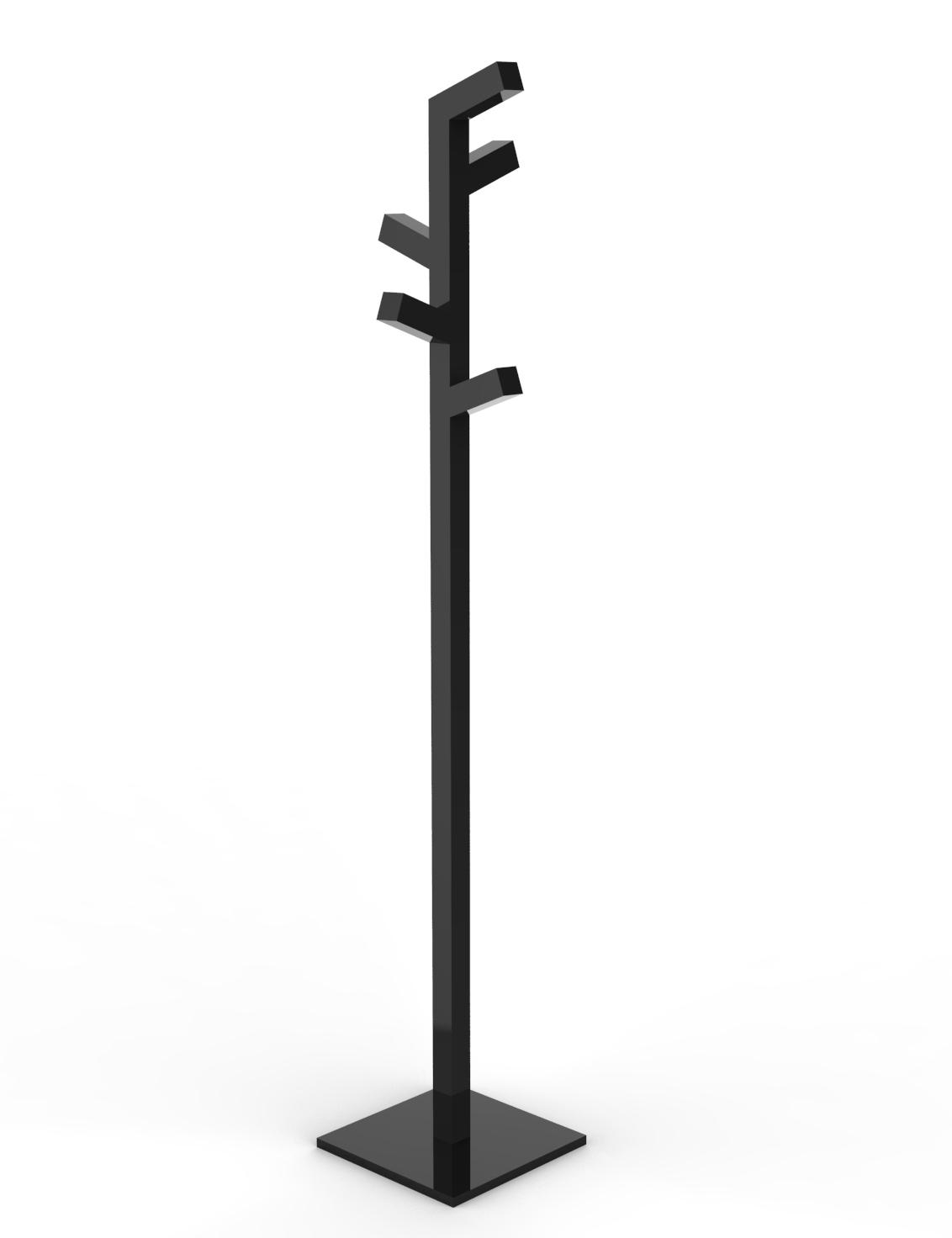 Appendiabiti Stelo.Design Contemporaneo Italiano Insilvis Organica 1 Appendiabiti A Stelo
