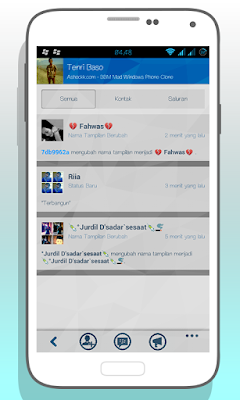 BBM Mod: Windows Style Theme for Android