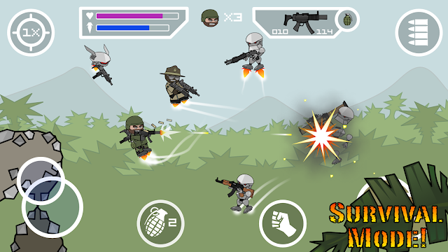 Doodle Army 2 : Mini Militia MOD Unlimited Money Pro v3.0.87 Apk Android Game Terbaru