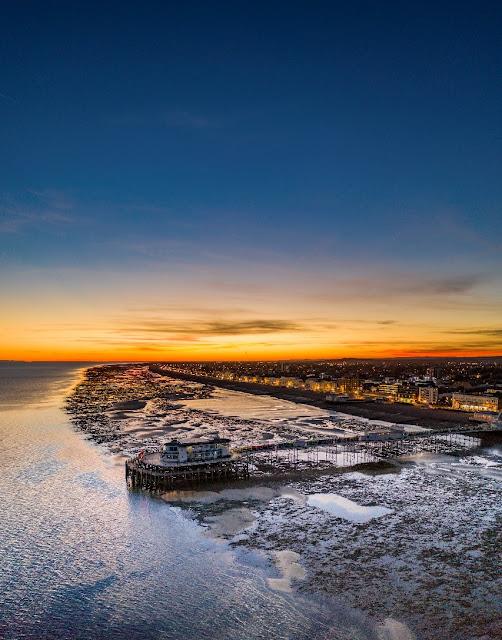 Worthing pier at sunset - DJI Mavic 2 Pro - Image by Matt Dugard