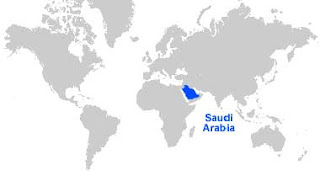 Gambar Peta letak Arab Saudi