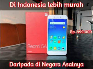 Xiaomi Redmi 5A spek, specs, harga, membeli hosting dan domain