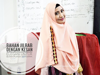 Bahan Jilbab dengan Kesan Elegan Untuk Buka Puasa Bersama