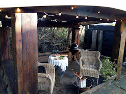 Covered Fire Pit at No. 1 Dales farm cottage only