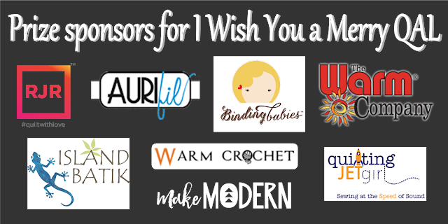 Grand prize sponsors of I Wish You a Merry QAL