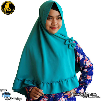 Khimar Bubble Crepe Desain Simple Model Rempel Bawah