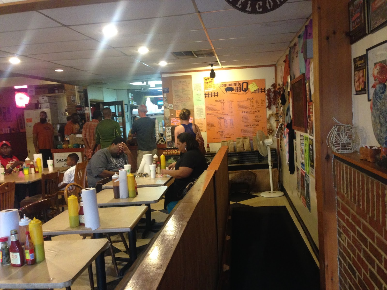 The menu is posted on the wall as you order at the counter - while these  days that's called