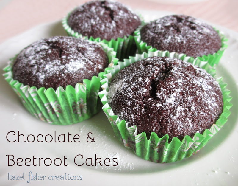 Chocolate and Beetroot Cakes recipe - Hazel Fisher Creations